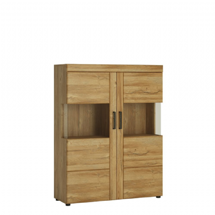 Low wide 2 door display cabinet